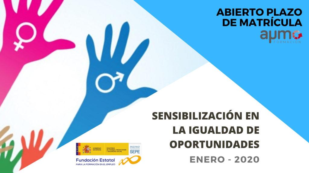 Curso gratuito sobre sensibilización en la igualdad de oportunidades, ofrecido por el SEPE y homologado
