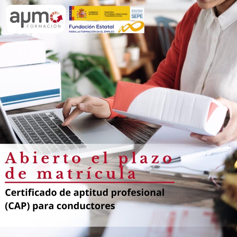 curso gratuito certificado aptitud profesional CAP conductores renovacion aymo formacion