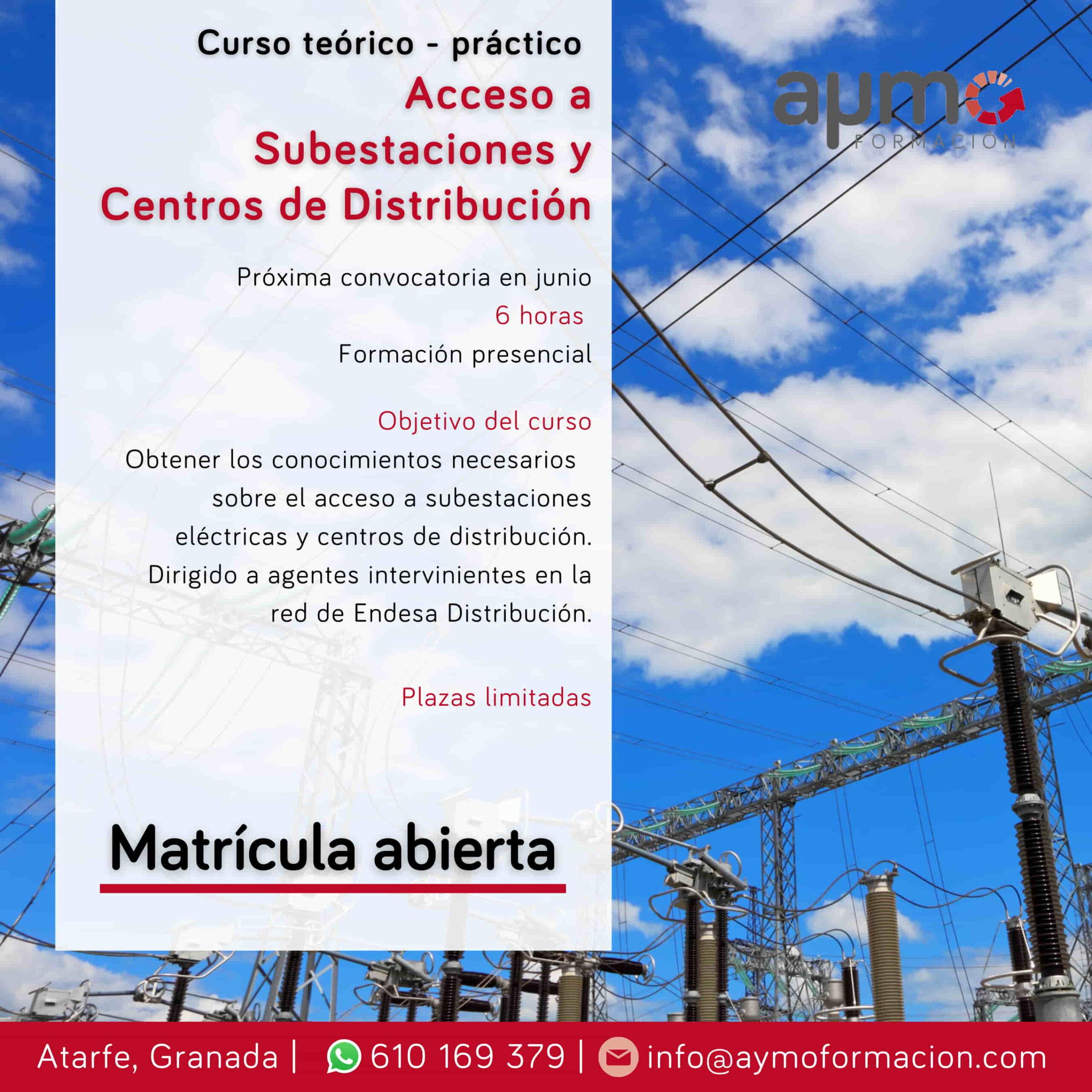 curso acceso a subestaciones y centros de distribucion