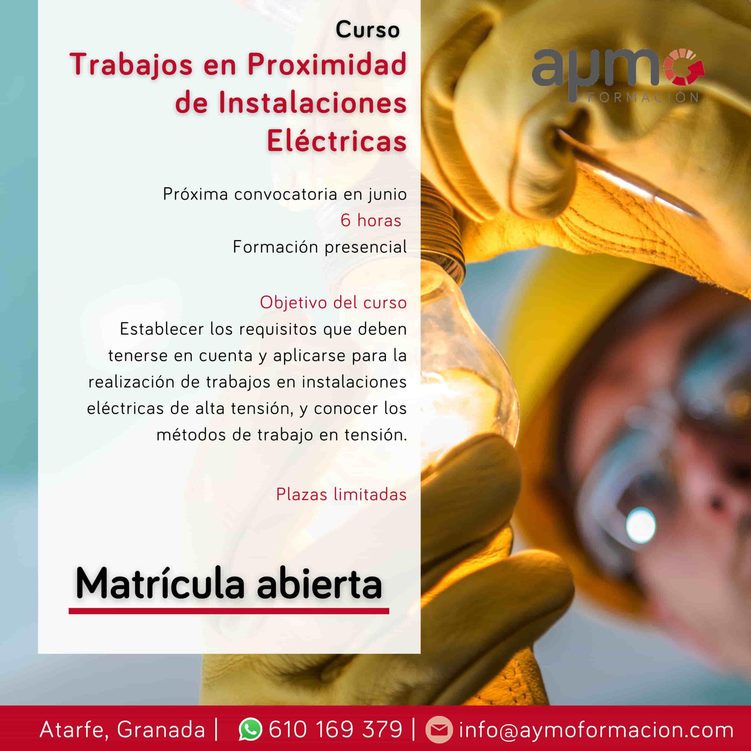 curso trabajos proximidad instalaciones electricas